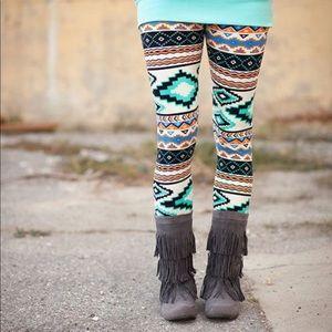 Pants - 🦋 Mint Aztec leggings 💙